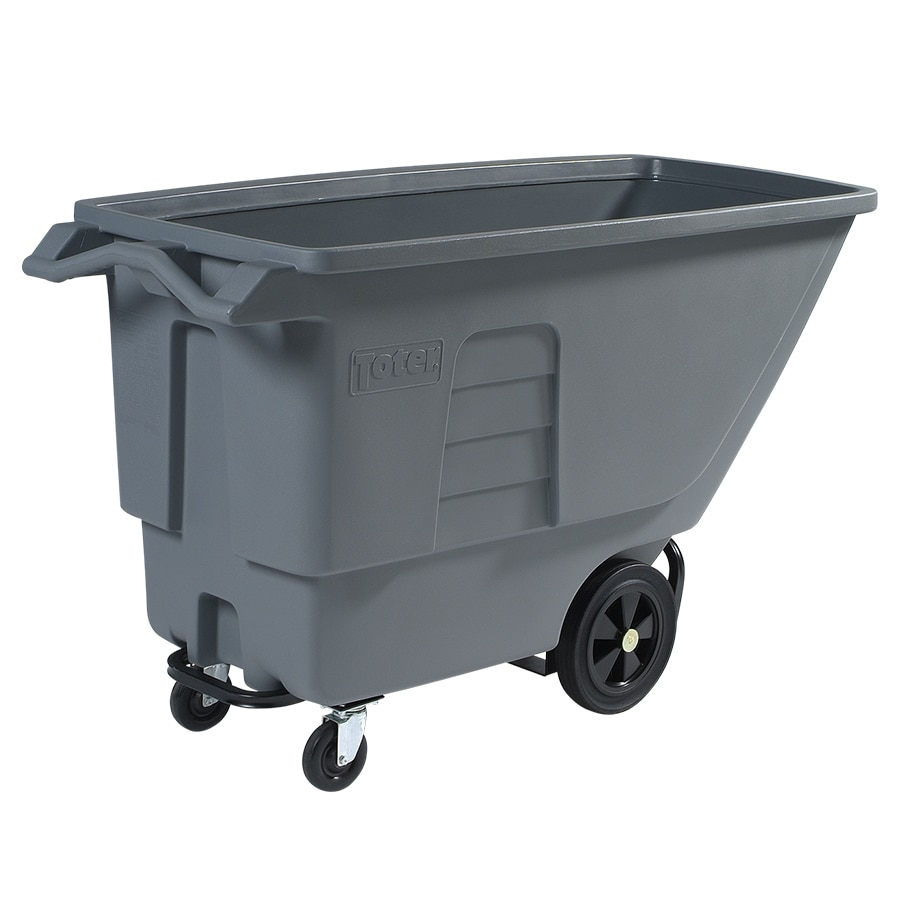 Toter 201.97-Gallon Textured Industrial Gray Plastic Wheeled Trash Can