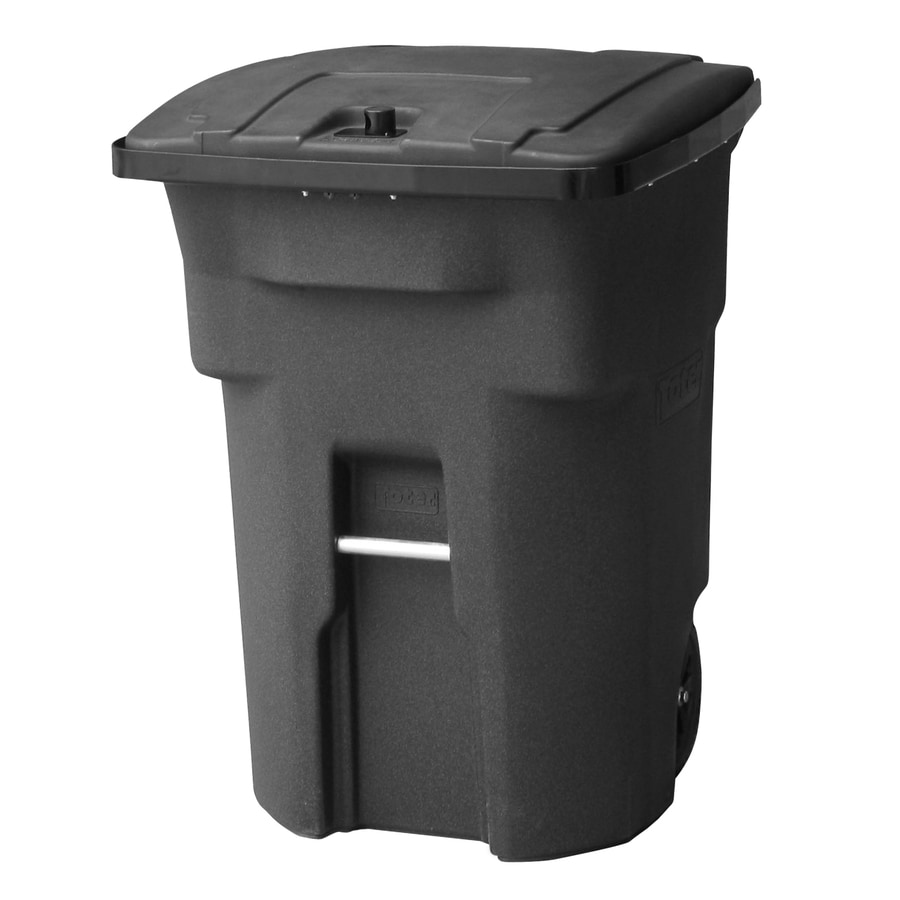 Go Home Black Industrial Kitchen Cart At Lowes Com: Shop Toter 96-Gallon Blackstone Outdoor Wheeled Trash Can