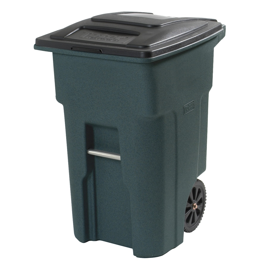 Shop Toter 32 Gallon Greenstone Wheeled Trash Can At Lowes Com