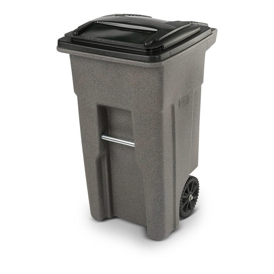 Toter 32 Gallon Graystone Plastic Outdoor Wheeled Trash