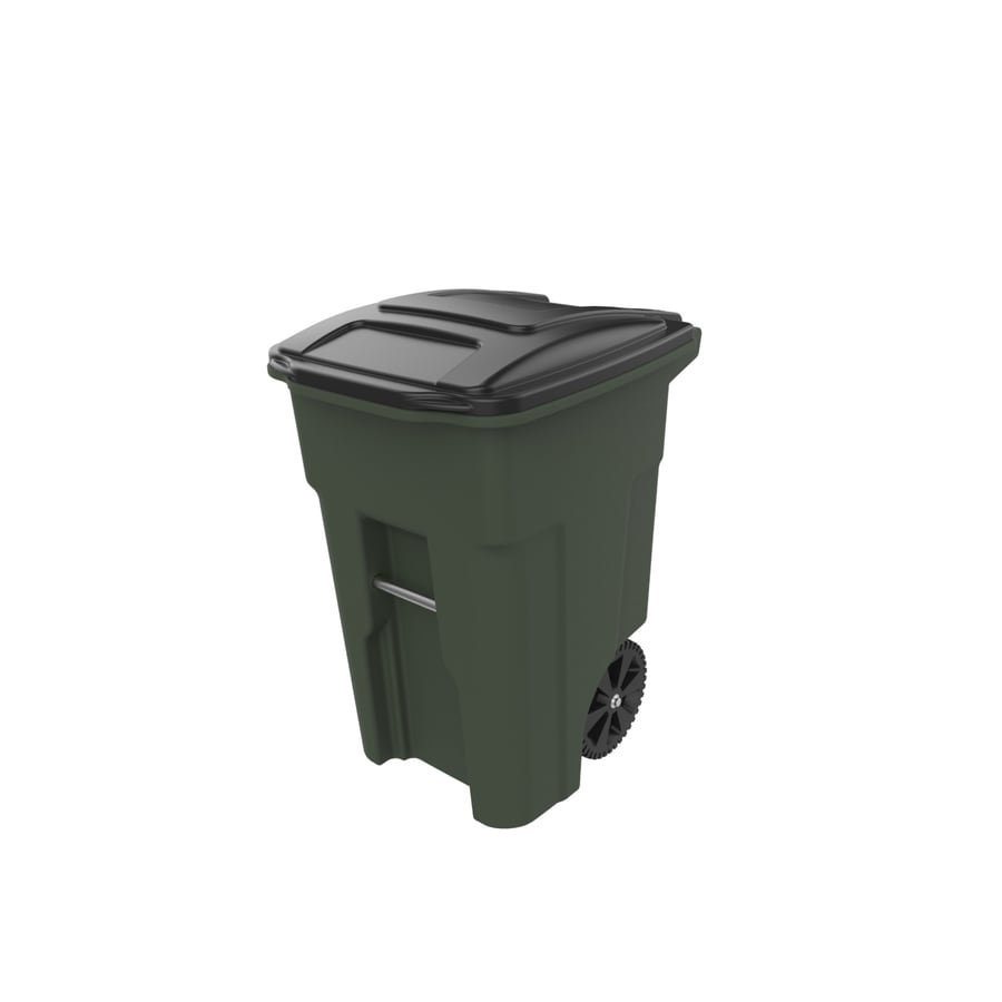 Toter 48 Gallon Standard Green Wheeled Trash Can