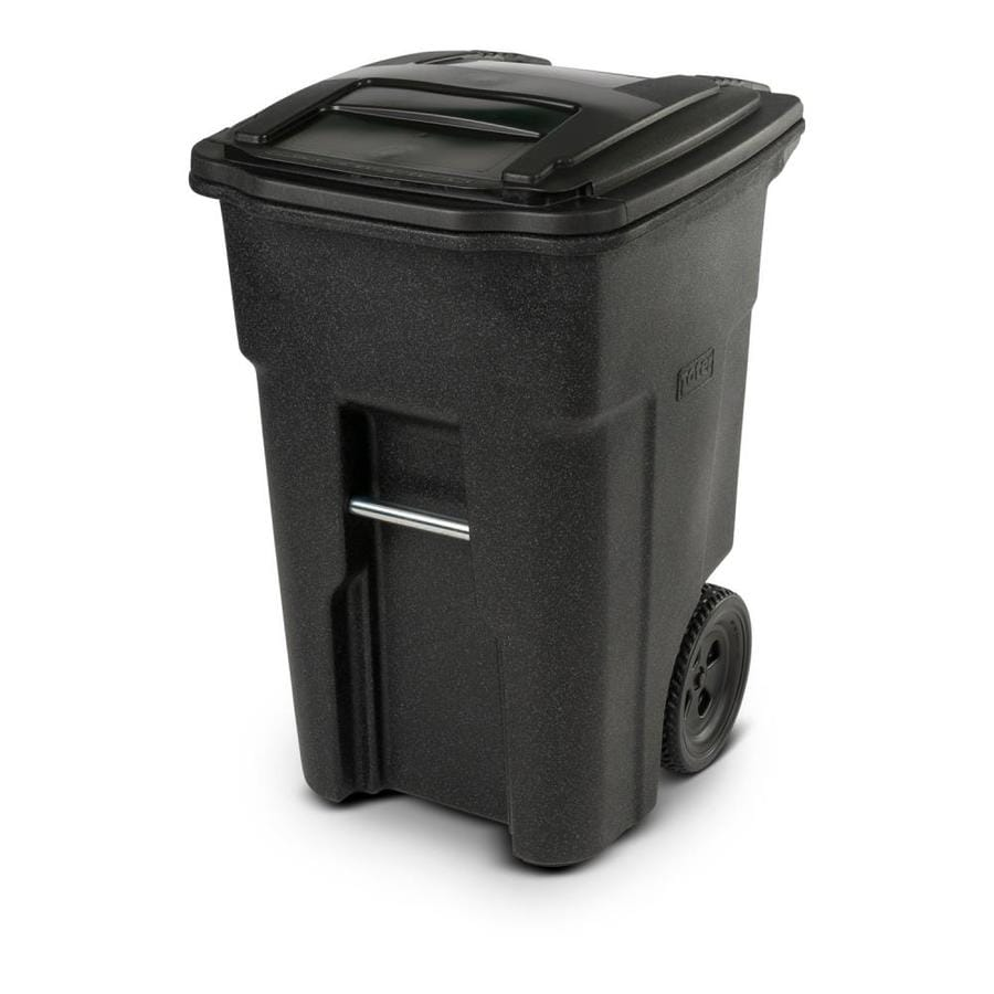 Toter 48-Gallon Graystone Plastic  Outdoor Wheeled Trash Can with Lid