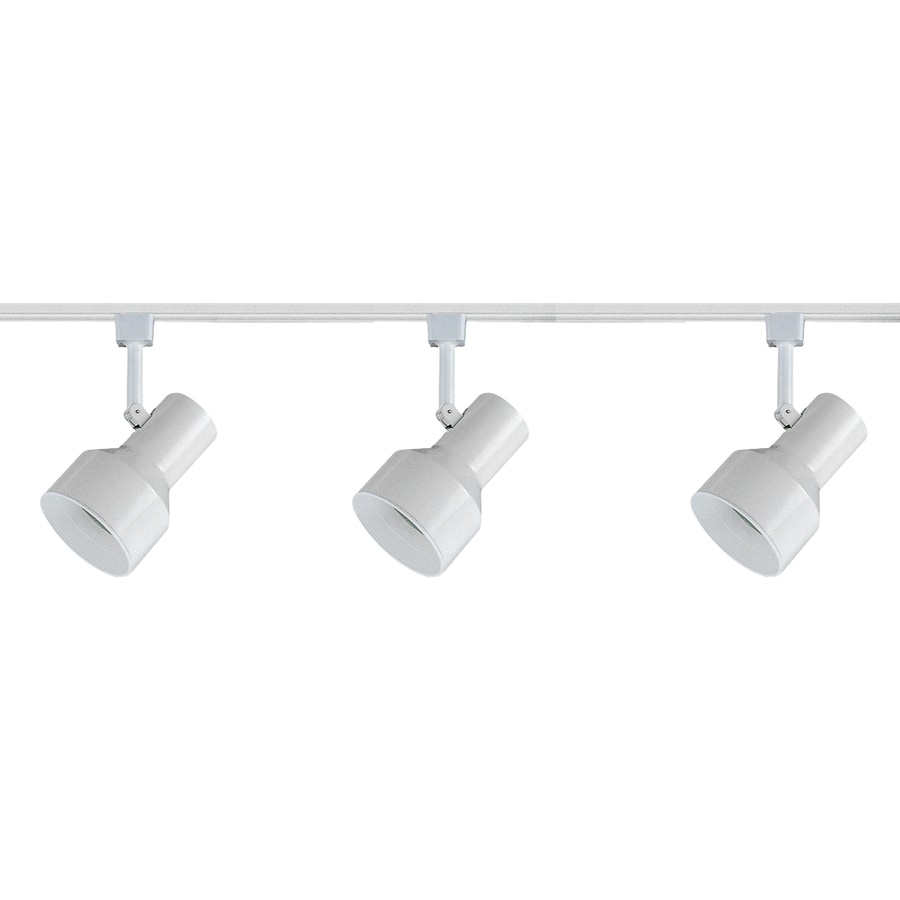 Royal Pacific 3-Light 48-in White/White Baffle Step Linear Track Lighting Kit