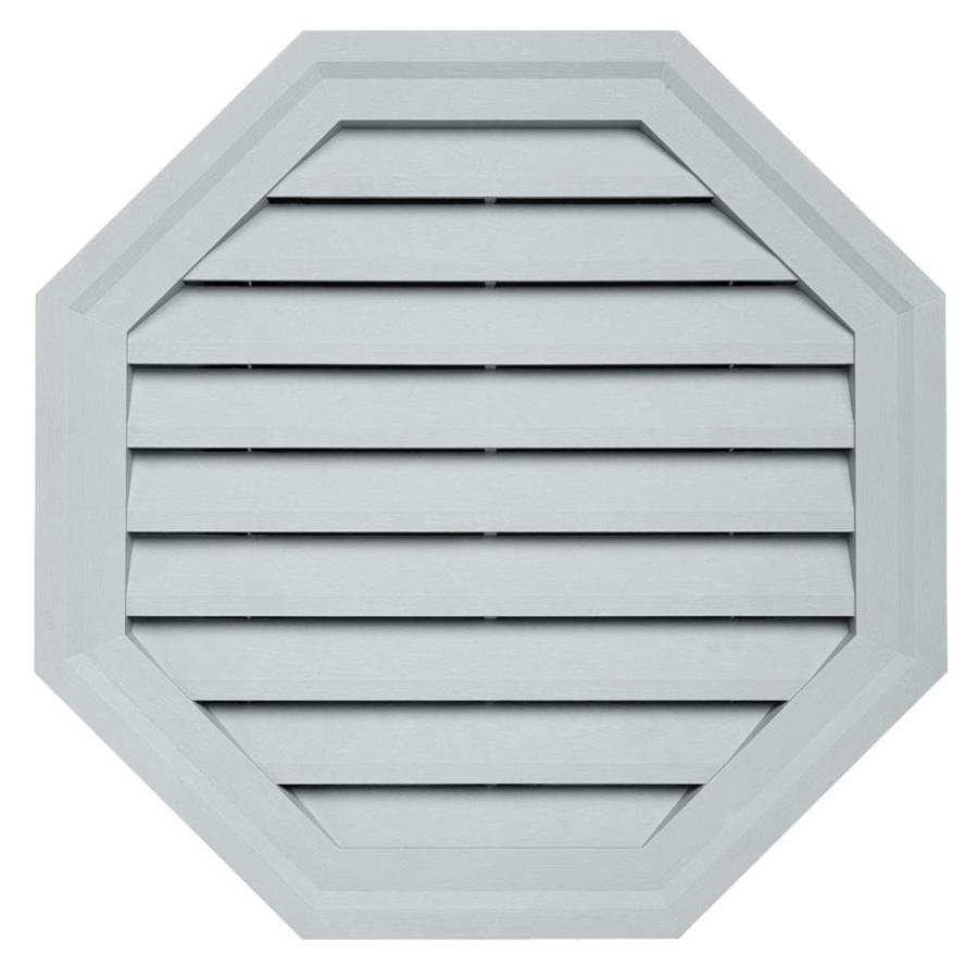 Durabuilt 10.5-in x 15-in Cape Blue/Pebble Octagon Plastic Gable Vent