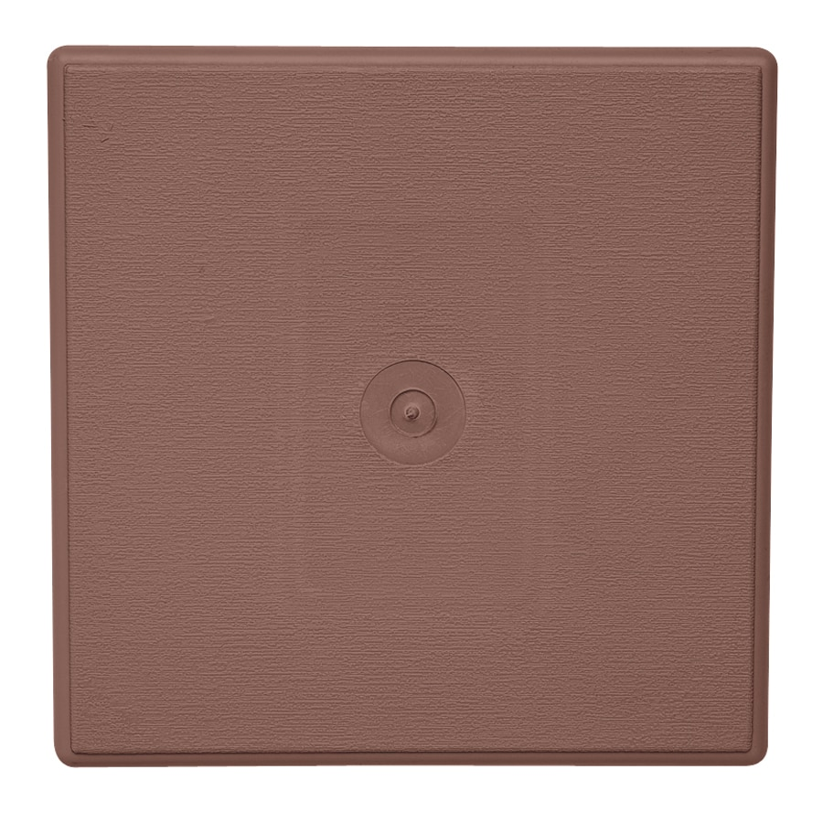 Durabuilt 6.625-in x 6.625-in Sedona Red/Pebble Vinyl Universal Mounting Block