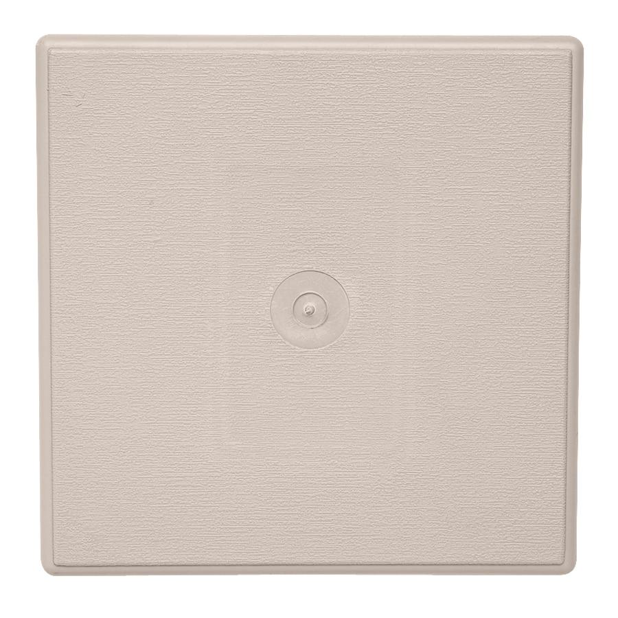 Durabuilt 6.625-in x 6.625-in Beige/Pebble Vinyl Universal Mounting Block