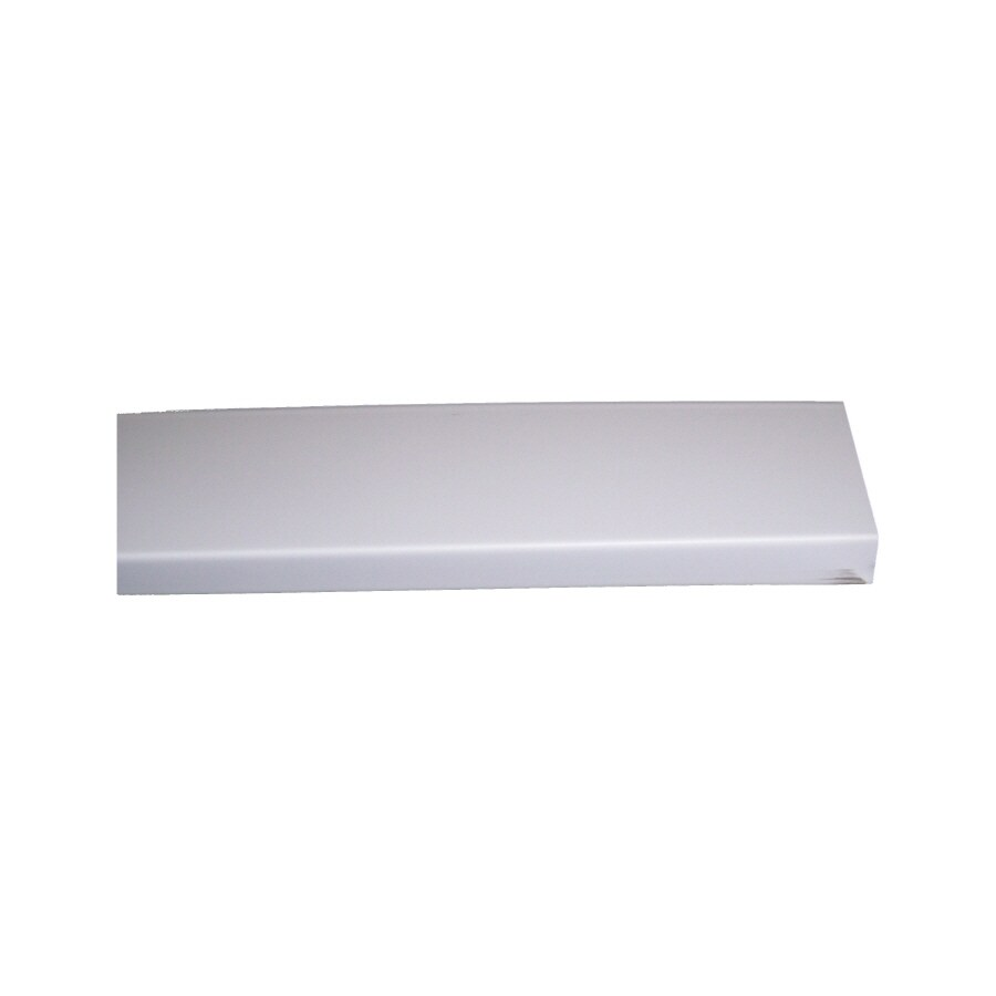 3.875-in x 12.1-ft White Smooth Fascia