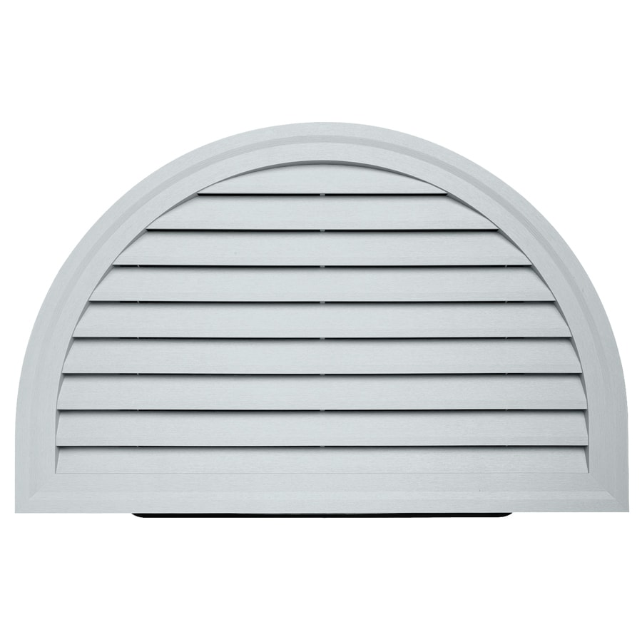 Durabuilt 14-in x 22-in Cape Blue/Pebble Half Round Plastic Gable Vent