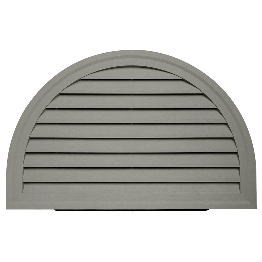 Durabuilt 14-in x 22-in Sagebrook/Pebble Half Round Plastic Gable Vent