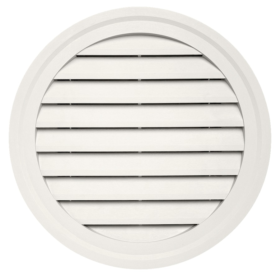 Durabuilt 10.5-in x 15-in Linen/Pebble Round Plastic Gable Vent