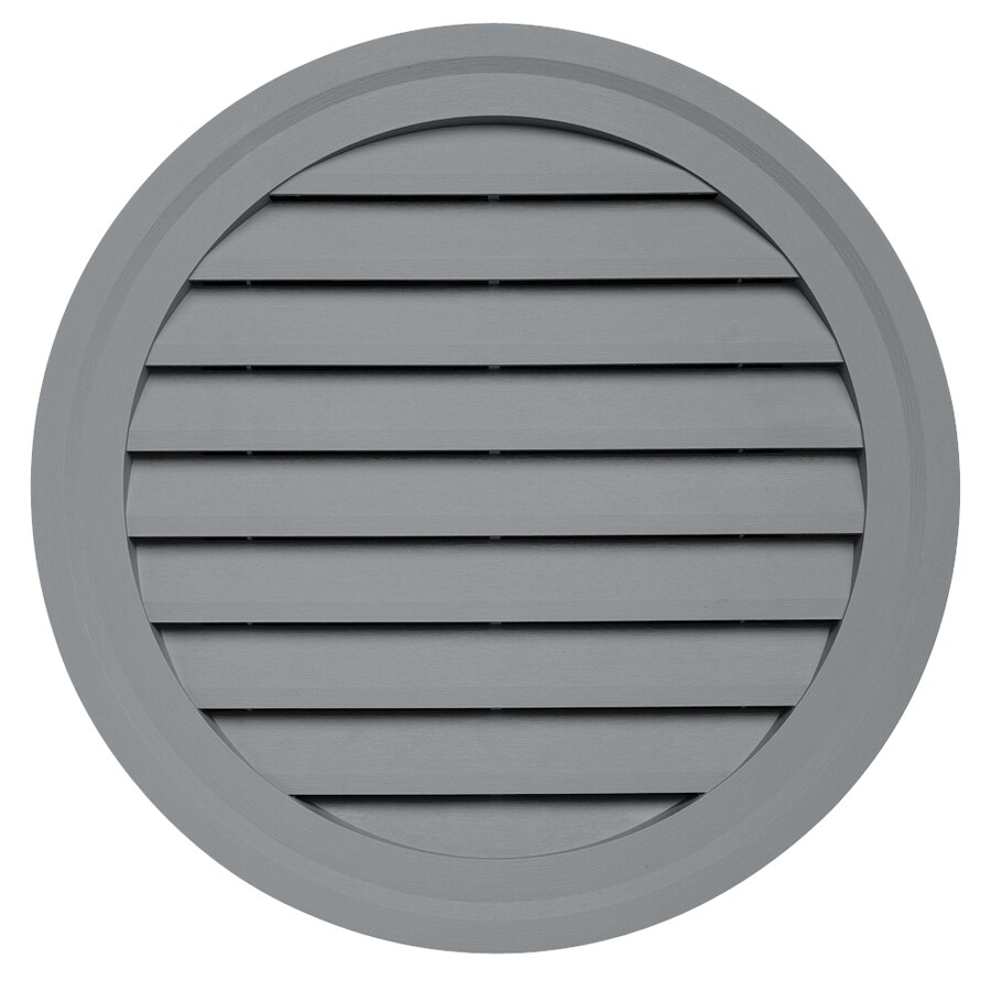 Durabuilt 10.5-in x 15-in Wedgwood/Pebble Round Plastic Gable Vent