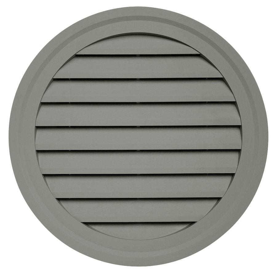 Durabuilt 22-in x 22-in Sagebrook/Pebble Round Plastic Gable Vent