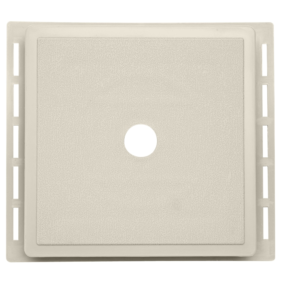7-in x 7-in Almond Vinyl Universal Mounting Block