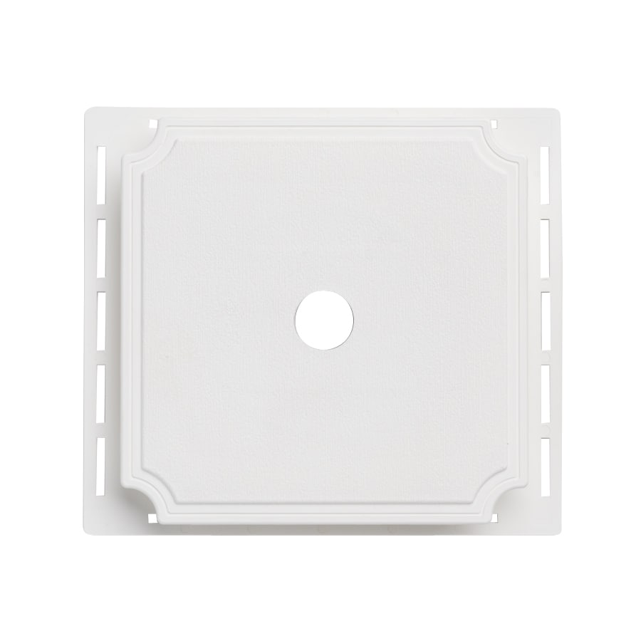 7-in x 7-in White Vinyl Universal Mounting Block