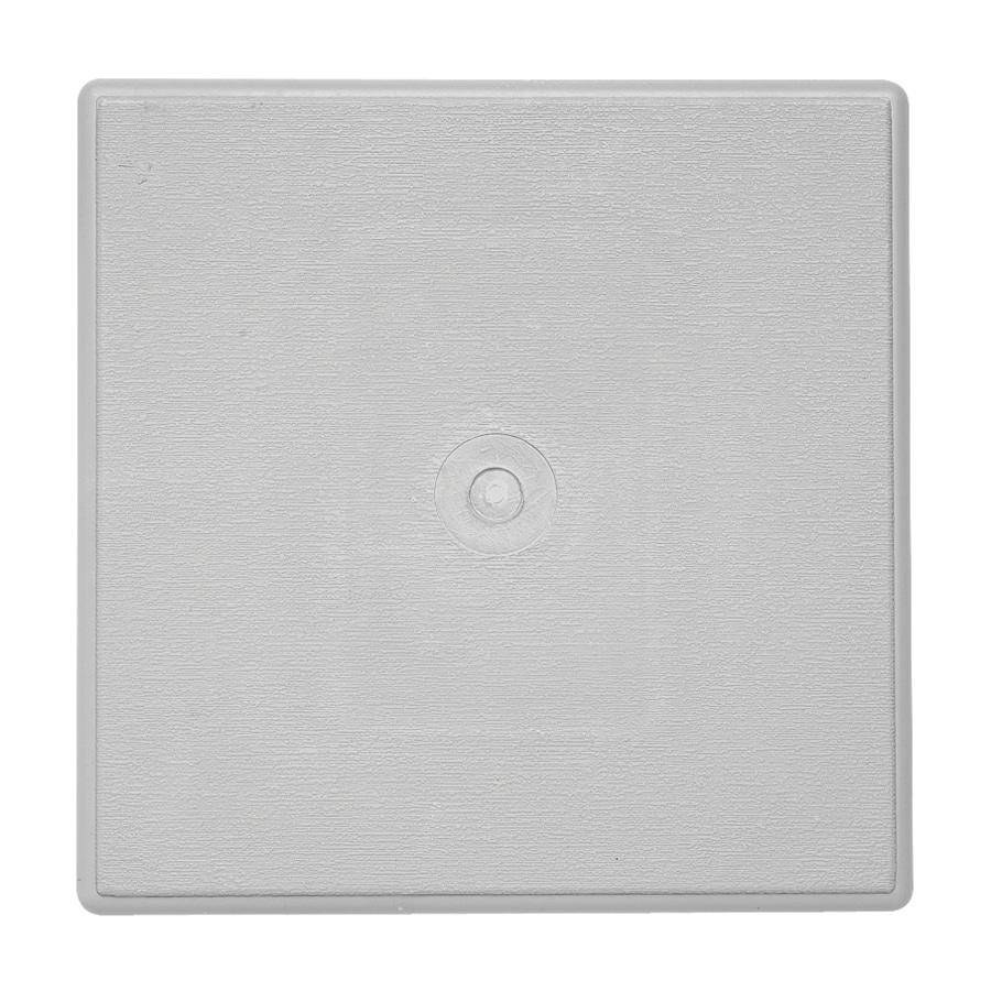 Durabuilt 6.625-in x 6.625-in Gray/Pebble Vinyl Universal Mounting Block