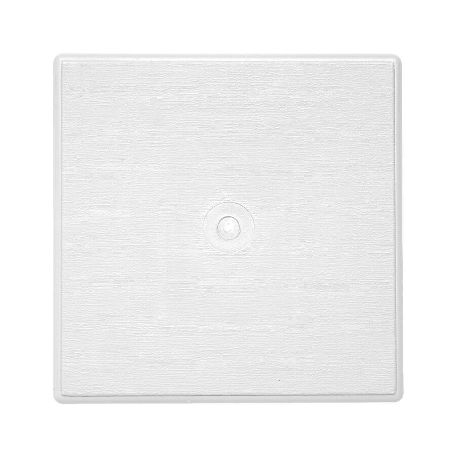 Durabuilt 6.75-in x 6.75-in White Vinyl Universal Mounting Block