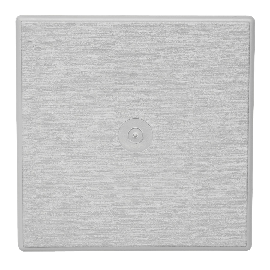 Durabuilt 6.625-in x 6.625-in Gray/Pebble Vinyl Universal Mounting Block