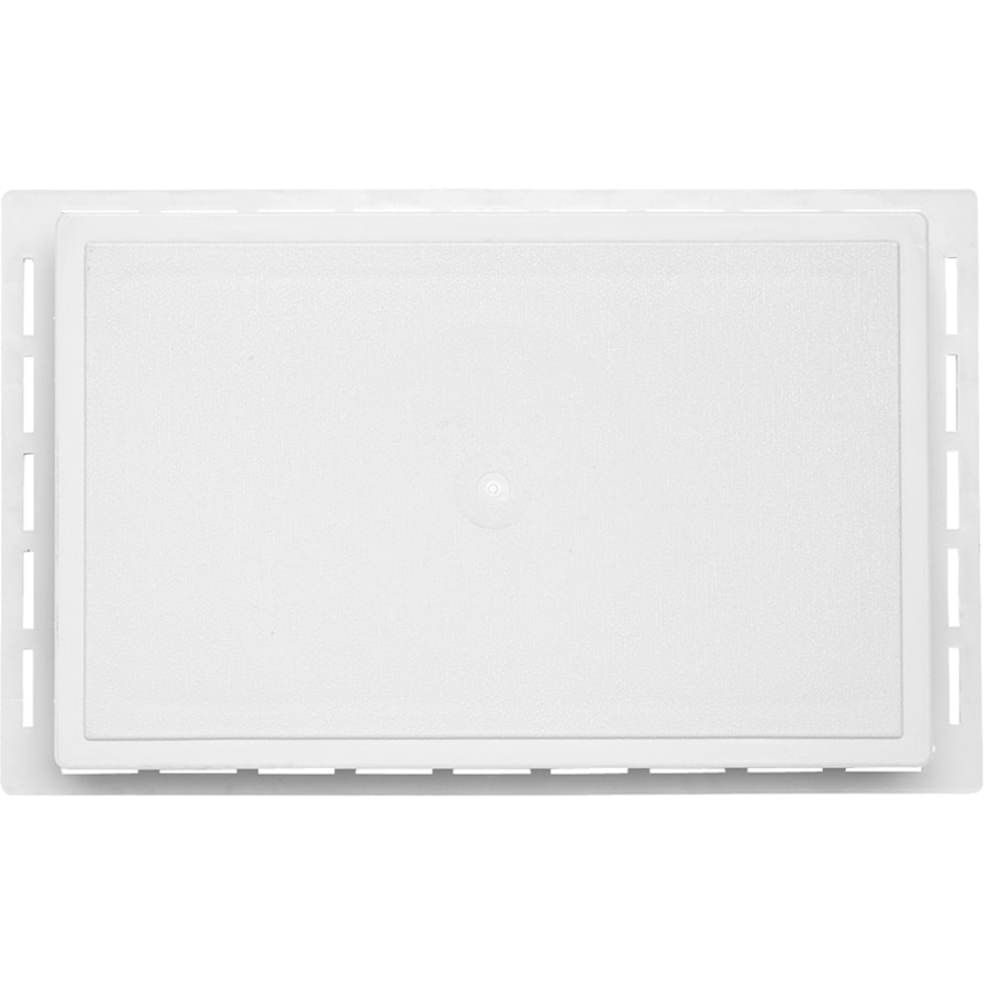 7.875-in x 12.625-in White Vinyl Universal Mounting Block