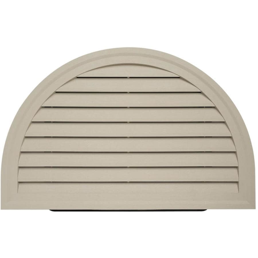 22-in x 34-in Clay Half Round Vinyl Gable Vent