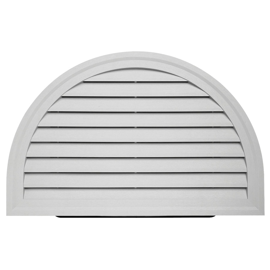 Durabuilt 14-in x 22-in Gray/Pebble Half Round Plastic Gable Vent