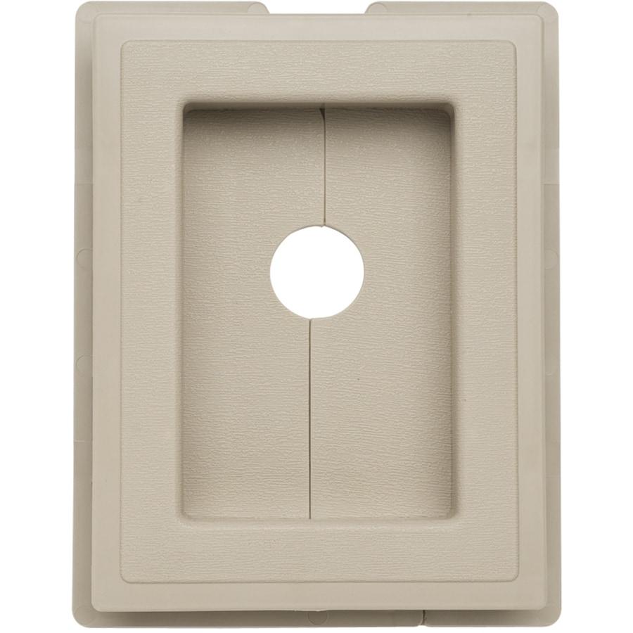 Durabuilt 6-in x 7.625-in Clay Vinyl Universal Mounting Block
