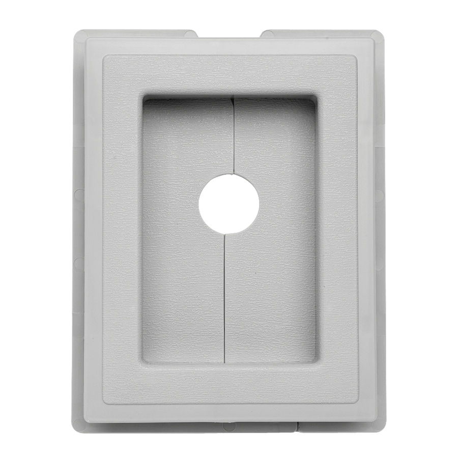 Durabuilt 6.875-in x 5.5-in Gray/Pebble Vinyl Electrical Mounting Block