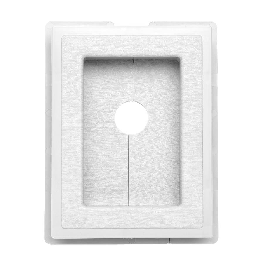Durabuilt 6-in x 7.625-in White Vinyl Universal Mounting Block