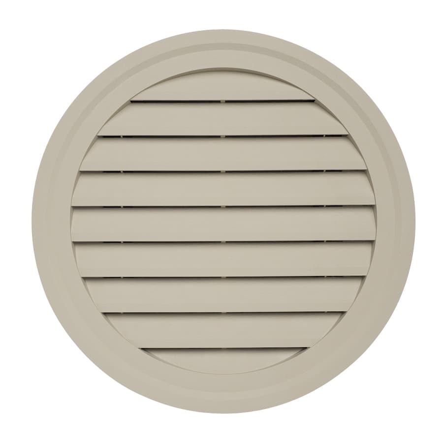 Durabuilt 22-in x 22-in Clay Round Plastic Gable Vent