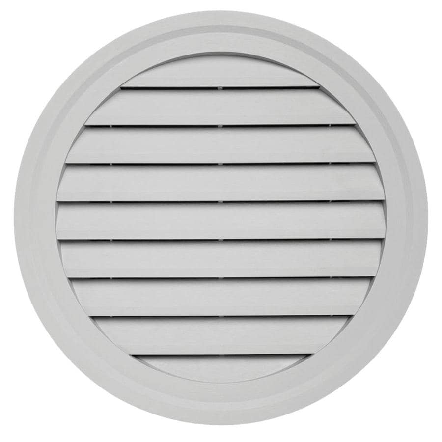 Durabuilt 22-in x 22-in Gray/Pebble Round Plastic Gable Vent