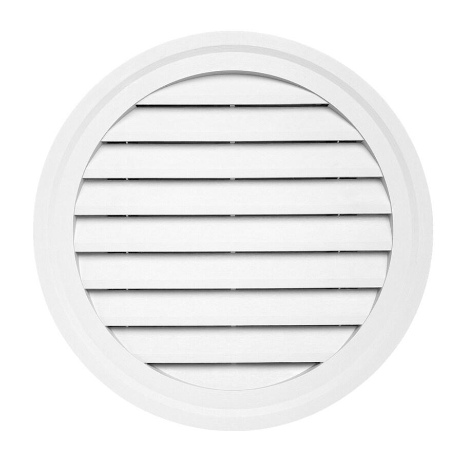 Durabuilt 22-in x 22-in White Round Plastic Gable Vent