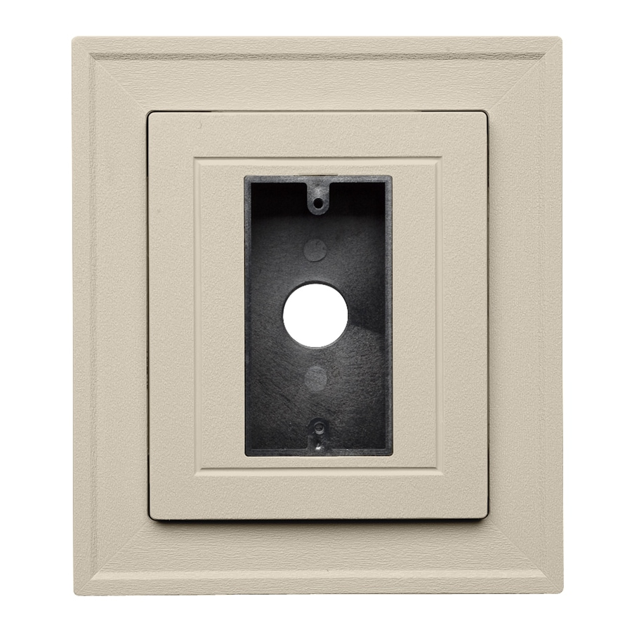 Durabuilt 8.25-in x 8.25-in Tan/Pebble Vinyl Electrical Mounting Block