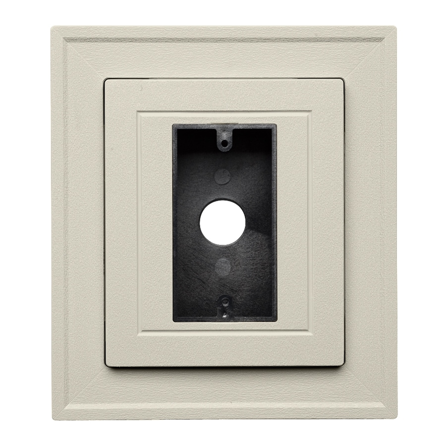 Durabuilt 8.25-in x 8.25-in Almond/Pebble Vinyl Electrical Mounting Block