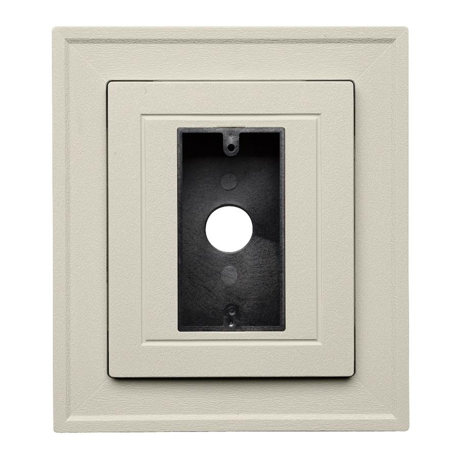 Durabuilt 8.25-in x 8.25-in Almond/Pebble Vinyl Electrical Mounting Block