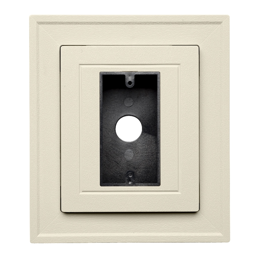 Durabuilt 8.25-in x 8.25-in Cream/Pebble Vinyl Electrical Mounting Block