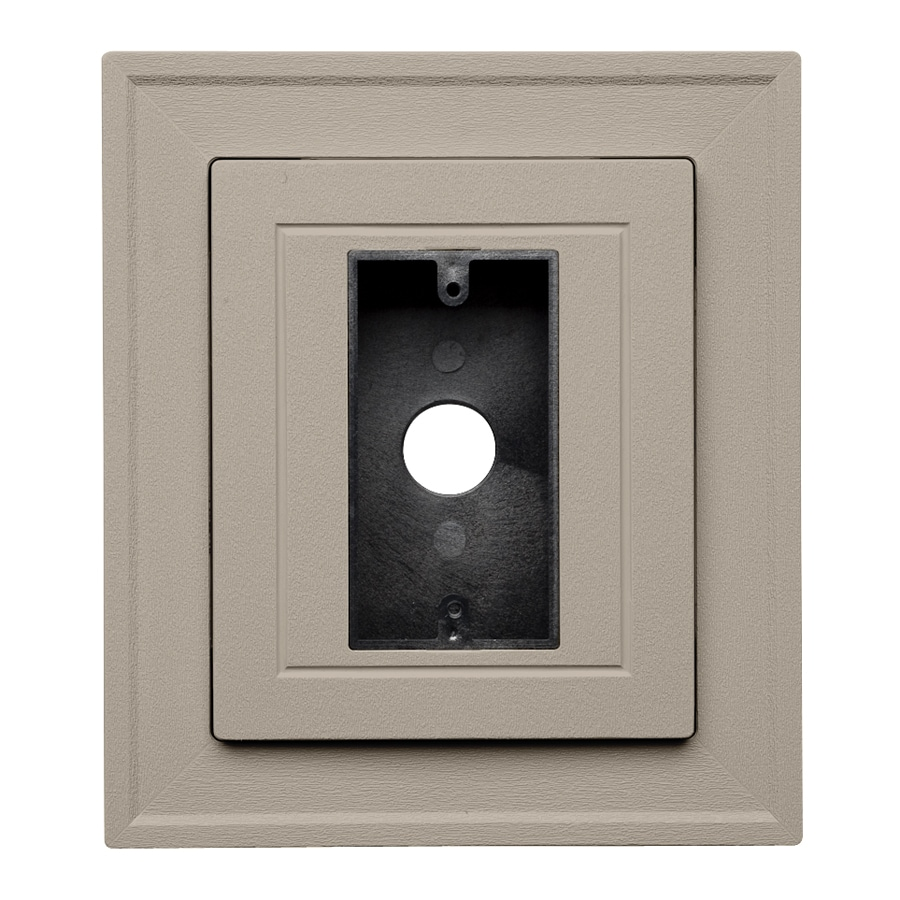 Durabuilt 8.25-in x 8.25-in Clay/Pebble Vinyl Electrical Mounting Block