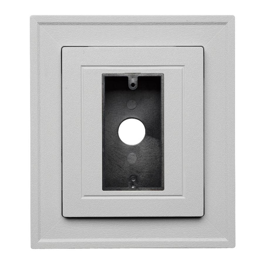Durabuilt 8.25-in x 8.25-in Gray/Pebble Vinyl Electrical Mounting Block