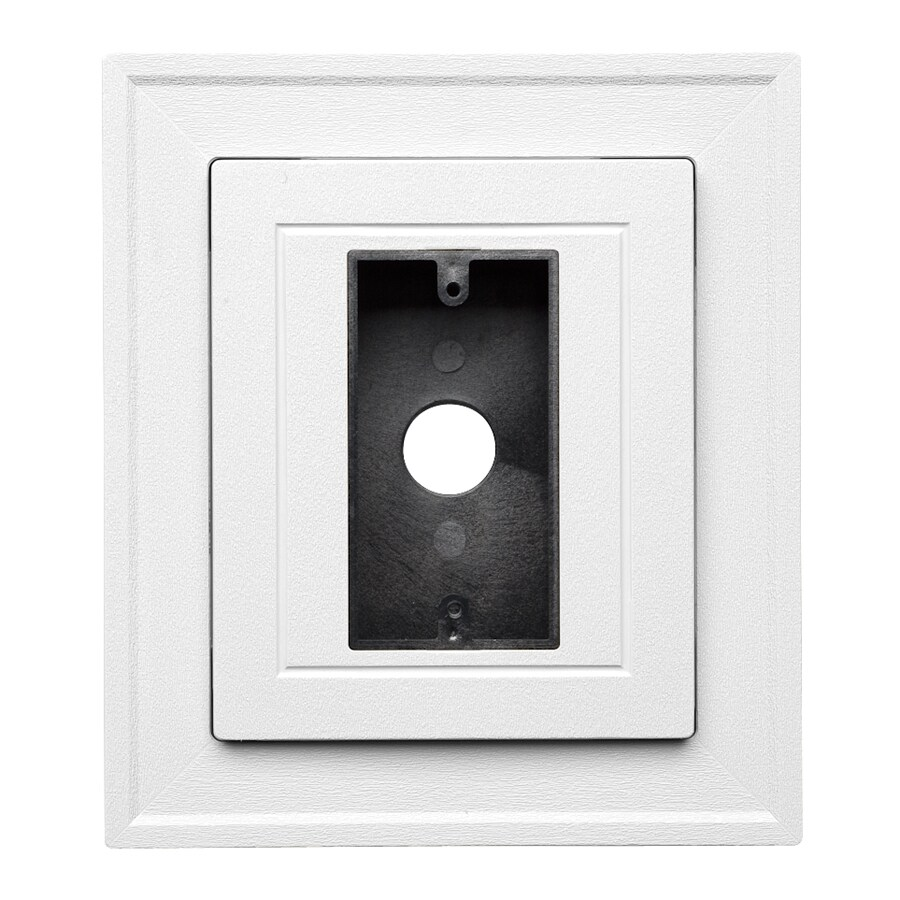 Durabuilt 8.25-in x 8.25-in White/Pebble Vinyl Electrical Mounting Block