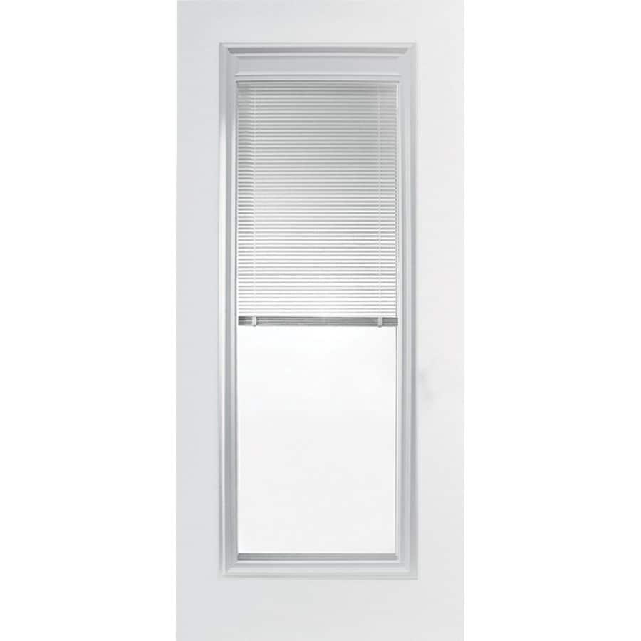 Shop ReliaBilt 36 MIni Blind Full Lite Steel Entry Door Unit Left