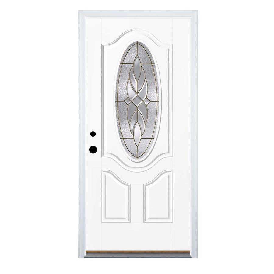 Shop therma tru benchmark doors varissa 2 panel insulating for Exterior fiberglass doors
