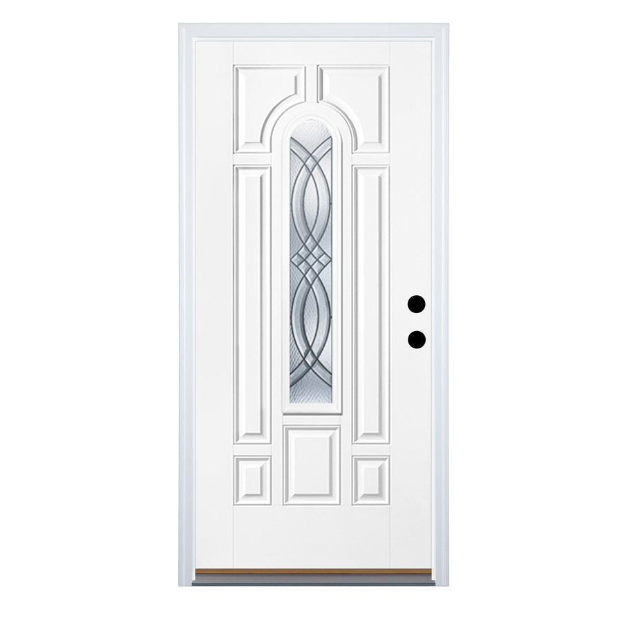 Therma-Tru Benchmark Doors Terracourt Left-Hand Inswing Ready to Paint Fiberglass Entry Door with Insulating Core (Common: 36-in x 80-in; Actual: 37.5-in x 81.5-in)