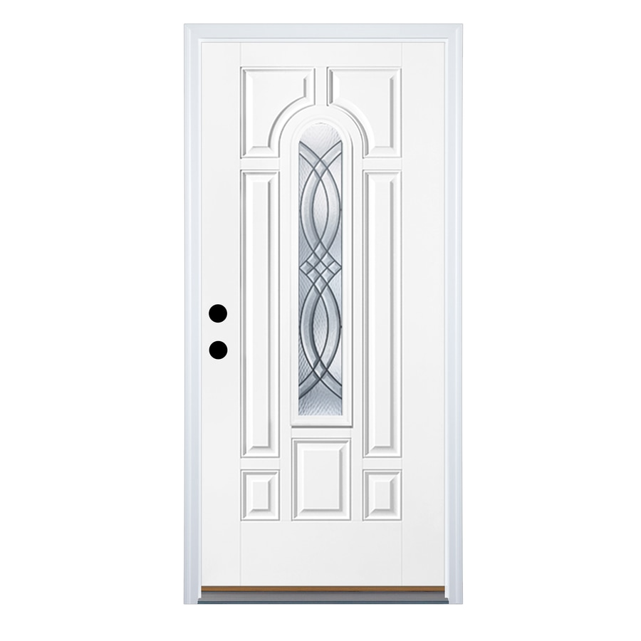 Therma-Tru Benchmark Doors Terracourt Right-Hand Inswing Ready to Paint Fiberglass Entry Door with Insulating Core (Common: 36-in x 80-in; Actual: 37.5-in x 81.5-in)