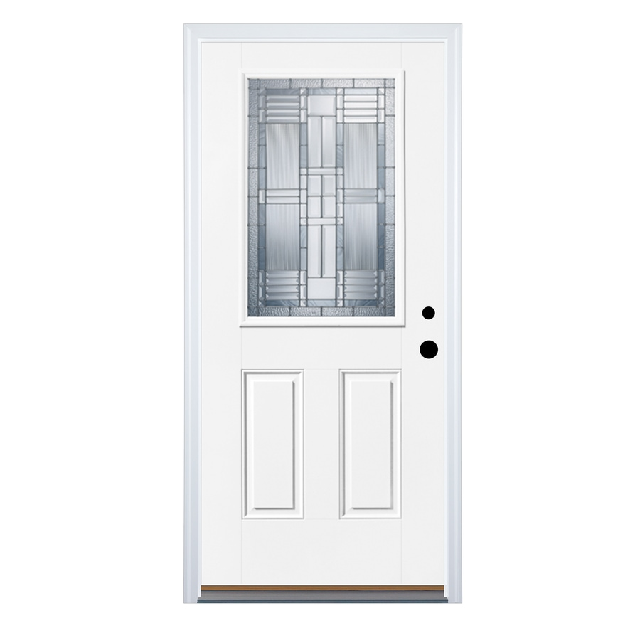 Shop therma tru benchmark doors dunthorpe 2 panel for Lowes exterior doors