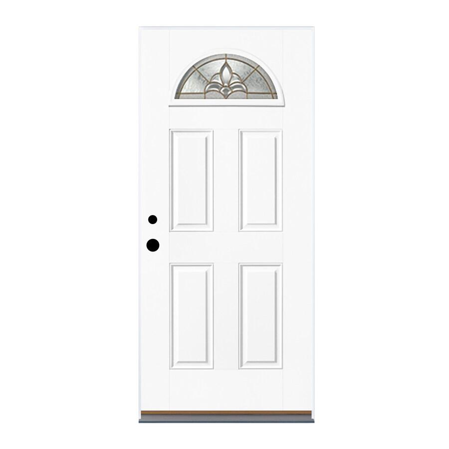 Therma-Tru Benchmark Doors Varissa 4-Panel Insulating Core Fan Lite Left-Hand  sc 1 st  Lowe\u0027s & Shop Therma-Tru Benchmark Doors Varissa 4-Panel Insulating Core ...