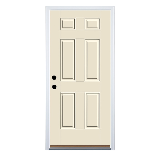 Therma Tru Benchmark Doors 32 In X 80 In Fiberglass Right Hand Inswing Ready To Paint Unfinished Prehung Single Front Door Brickmould Included In The Front Doors Department At Lowes Com