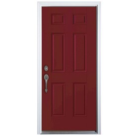 Shop Therma Tru Benchmark Doors 6 Panel Insulating Core Right Hand Inswing Fi