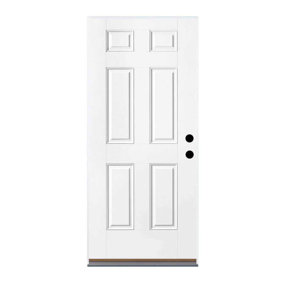 Therma Tru Benchmark Doors 32 In X 80 In Fiberglass Left Hand Outswing Ready To Paint Unfinished Prehung Single Front Door In The Front Doors Department At Lowes Com Provide strength and durability, requires little maintenance, can be painted and are the most affordable option available. lowe s