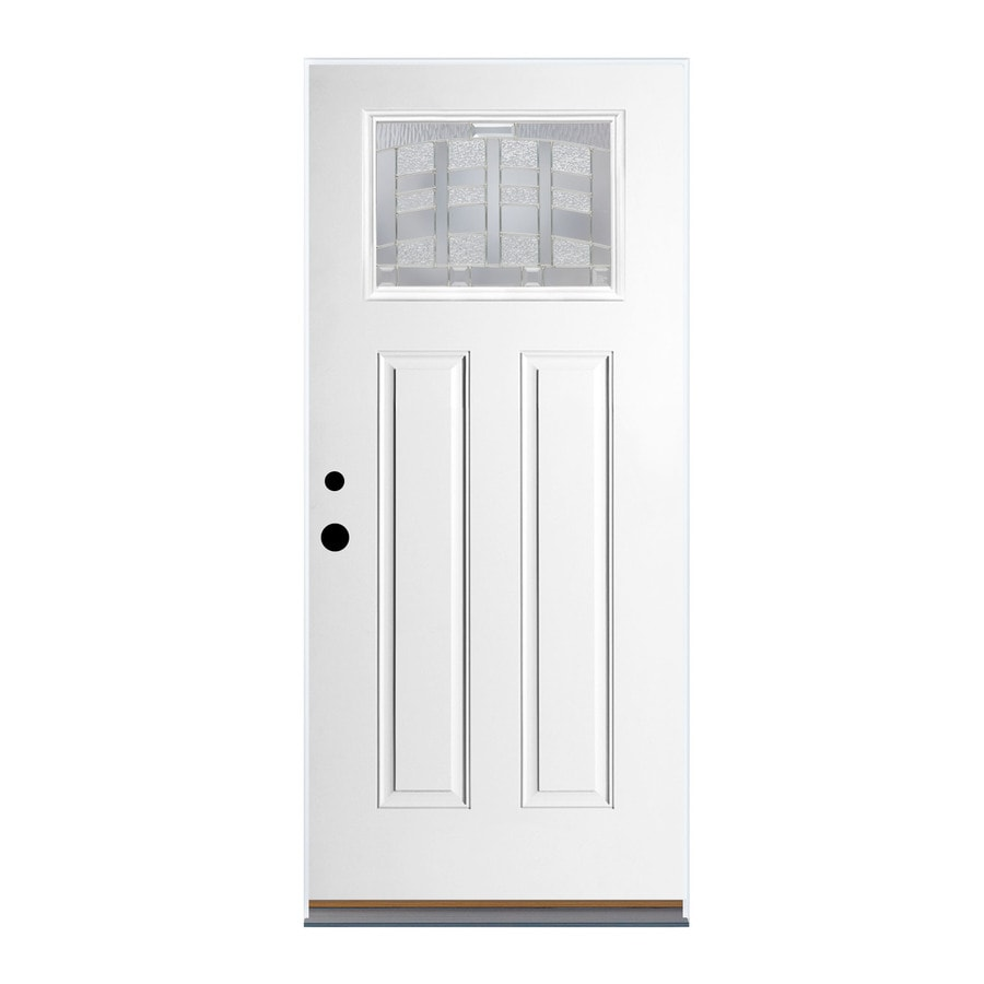 Therma-Tru Benchmark Doors Emerson Craftsman Insulating Core Craftsman 1-Lite Left-Hand Outswing Ready To Paint Fiberglass Prehung Entry Door (Common: 36-in x 80-in; Actual: 37.5-in x 80.5-in)