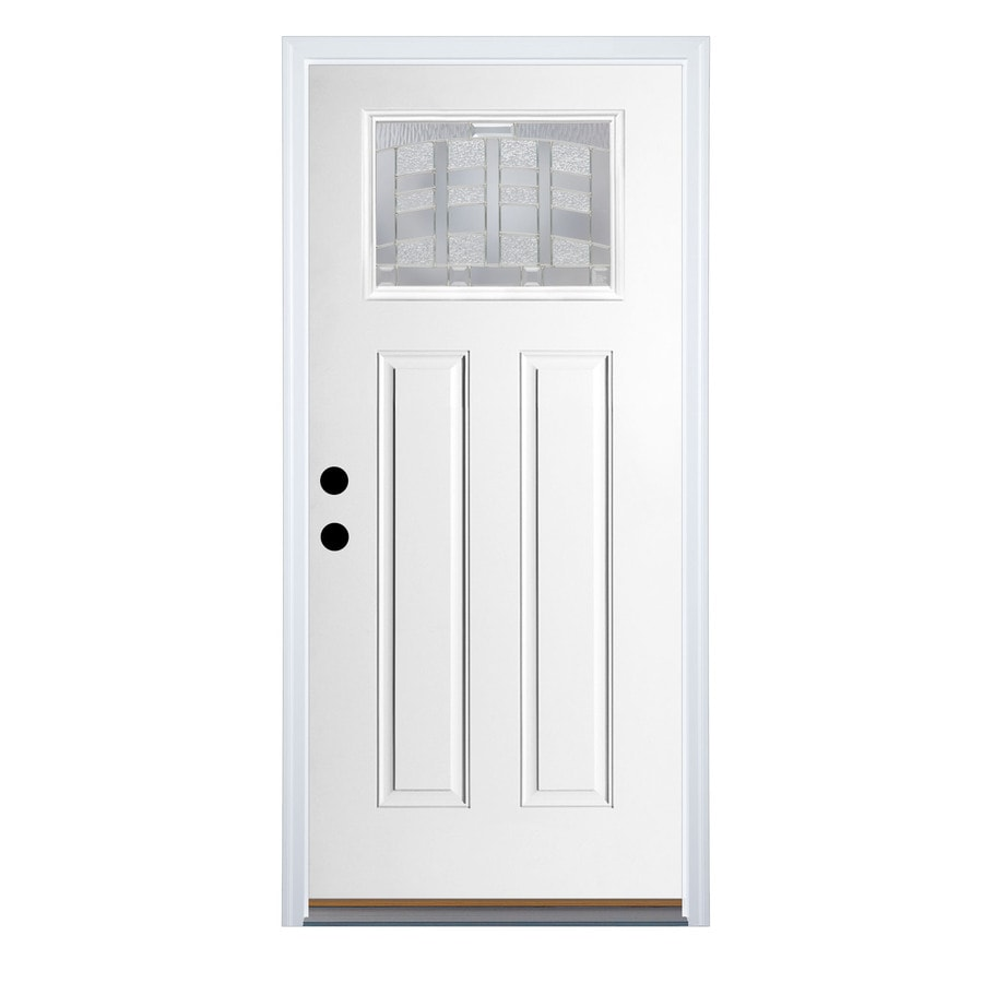 Shop therma tru benchmark doors emerson right hand inswing for Fiberglass entrance doors
