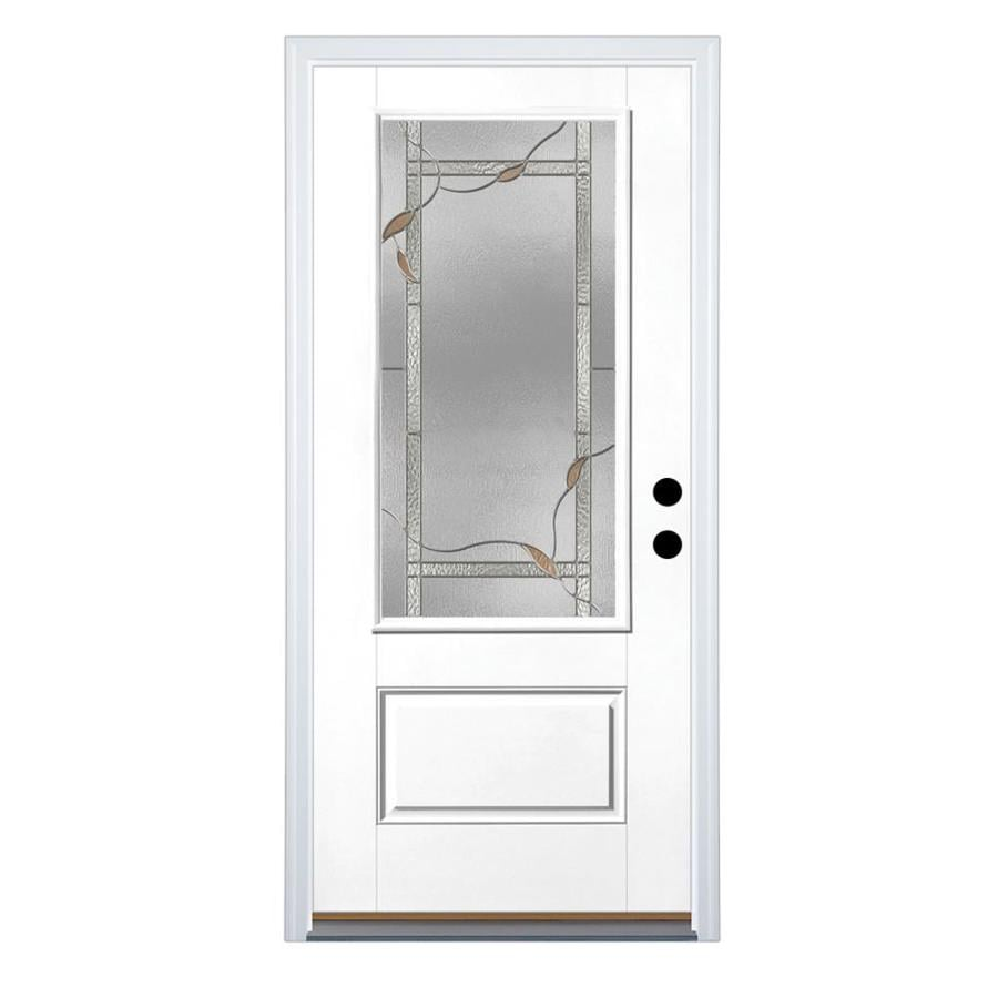 Therma Tru Benchmark Doors Ashleigh 34 Lite Decorative Glass Left