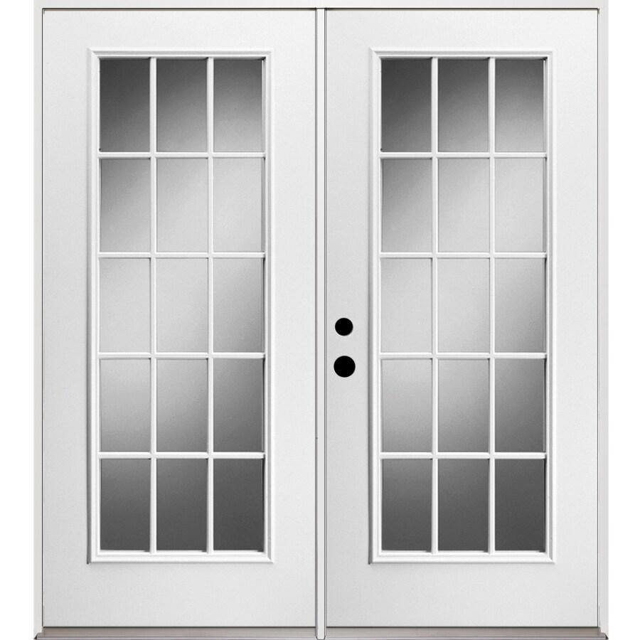 ReliaBilt 71.375 In 15 Lite Glass Unfinished Steel French Inswing Patio Door
